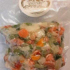Frozen organic vegetable mixes